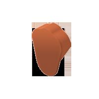 Торец конька фигурный