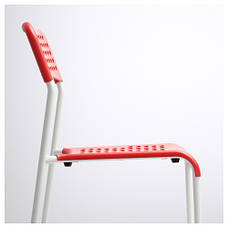 АДДЕ Кресло, красно-белое, 90219184 IKEA, ИКЕА, ADDE, фото 2