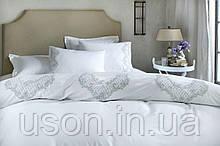 Комплект постельного белья сатин люкс Pepper home евро размер Melinda