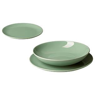 ФЭРГРИК Сервиз, 18 предметов, керамика, светло-зеленый, 40318921 IKEA, ИКЕА, FARGRIK, фото 2