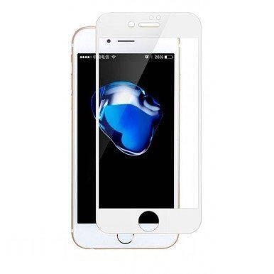 Защитное стекло 6D для телефона iPhone 6 / 6s - белый
