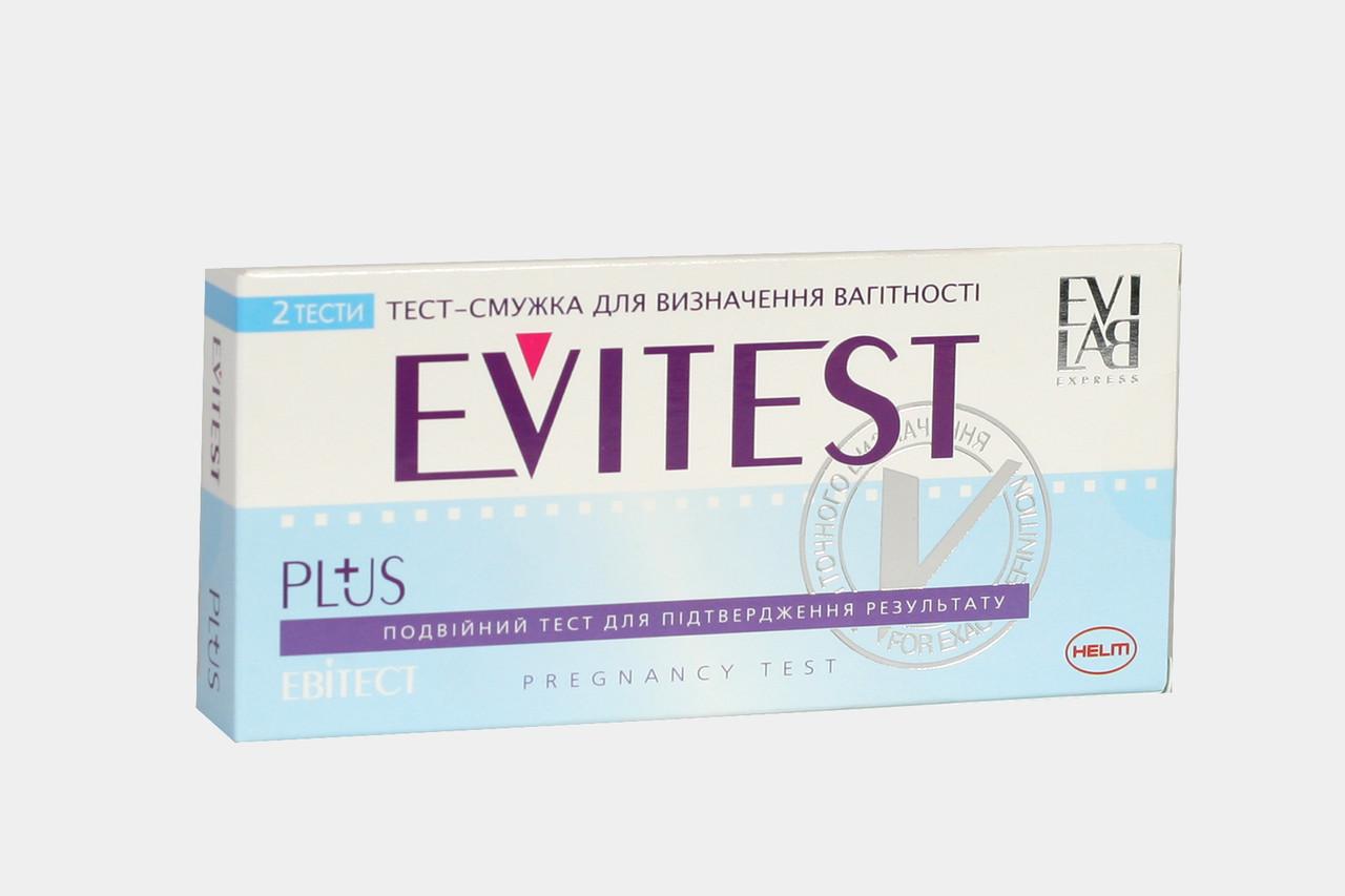 Тест-полоска для определения беременности EVITEST  PLUS №2