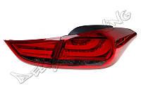 Фонари задние Hyundai Elantra красно-тонированные  ZZEE04