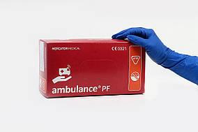 Перчатки латексные Ambulance S нестерильные неопудренные (25 пар/уп) синие