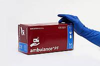 Перчатки латексные Ambulance M нестерильные неопудренные (25 пар/уп) синие