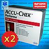 Комплект тест-полосок Accu-Chek Performa / Акку-Чек Перформа 50+50 шт., 2уп. (200 шт.)
