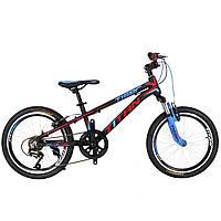 "Велосипед Titan Tiger 20""×10"" (Black-Red-Blue), фото 1"