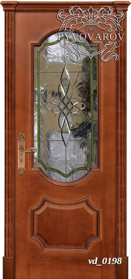 Прозрачный витраж Тиффани в двери