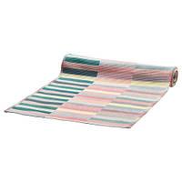 МИТТБИТ Дорожка настольная, розовая бирюза, светло-зеленый, 35x130 см, 40343572 IKEA, ИКЕА, MITTBIT
