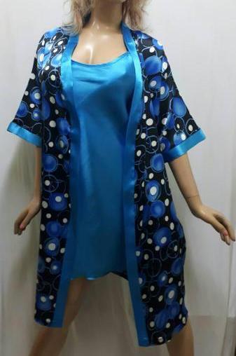 Атласный халат с рубашкой , размер 50-52,Харьков