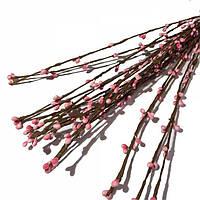 Веточки проволочные с почками. Розовые
