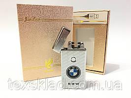 Запальничка електроімпульсна BMW Silver x2