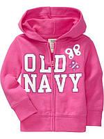 Кофточка для девочки с капюшоном розовая OldNavy