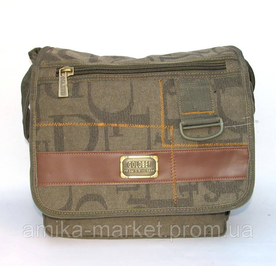 73f0366e5fe0 Мужская брезентовая сумка Gold Be оливковая - Амика-маркет в Хмельницком