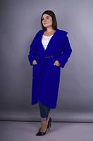 Сарена. Женское пальто-кардиган больших размеров