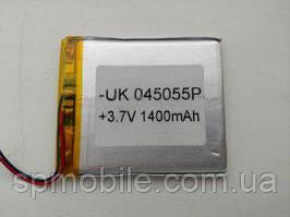 Акумулятор 045055 для China (Li-ion 3.7 В 1400мА·год), (55*50*4 мм)