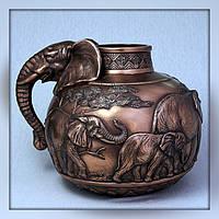 """Ваза """"Слон"""" (26 см) Бронза Veronese (Италия)"""
