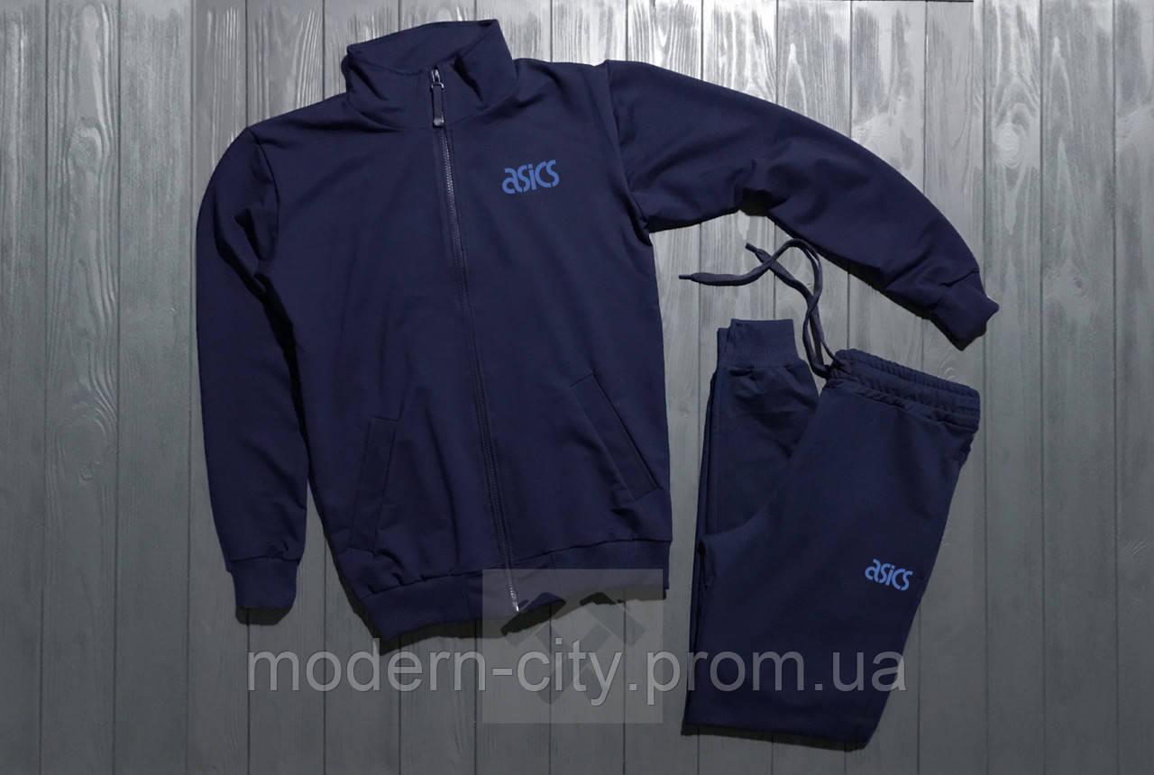 Спортивный костюм мужской на молнии (с замком) Asics Асикс темно-синий b032b281d3d