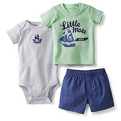 Комплект для мальчика летний Кораблик Carters