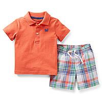 Комплект для мальчика оранжевый Carters