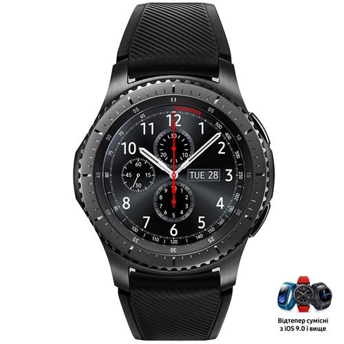 Смарт-часы SAMSUNG Gear S3 RM-760 Frontier Space Gray (SM-R760NDAASEK)