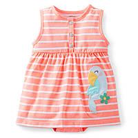 Бодик-платье для девочки Попугай Carters