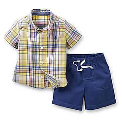 Костюм для мальчика рубашка и шорты Carters