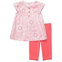 Костюм для девочки розово-коралловый Carters