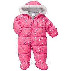 Комбинезон зимний для новорожденной девочки Carter's