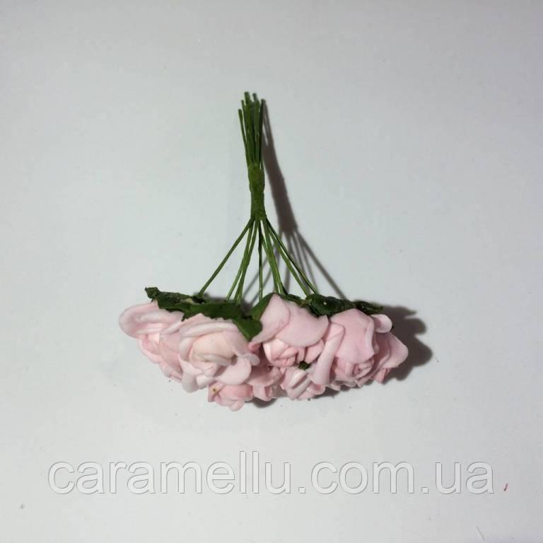 Розы кучерявые из фоамирана(латекса). 10 штук. Цвет розовый