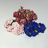 Розы кучерявые из фоамирана(латекса). 10 штук. Цвет розовый, фото 2