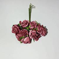 Розы кучерявые из фоамирана(латекса). 10 штук. Цвет бордовый, фото 1