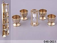 Набор подставок под яйцо из 4 шт на держателе + песочные часы, Lefard, 646-0651