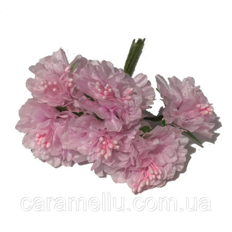 Хризантема 6 штук. Цвет розовый