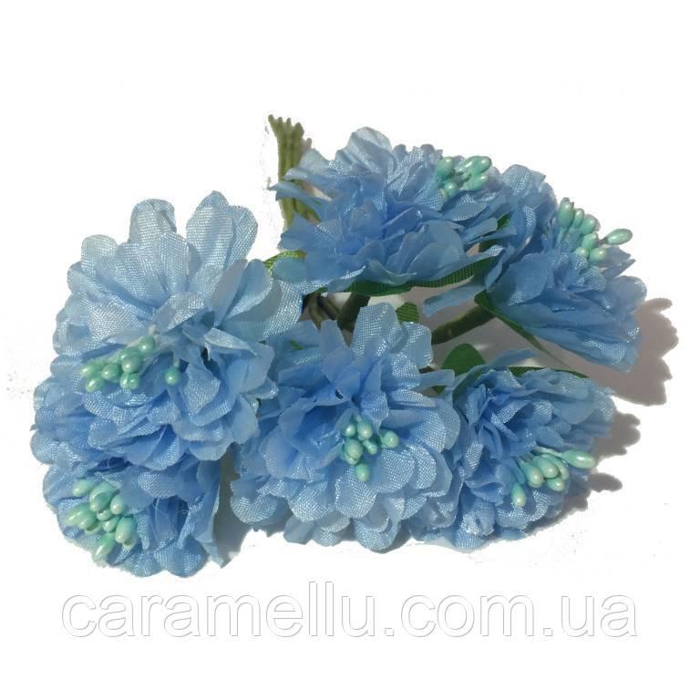 Хризантема 6 штук. Цвет голубой