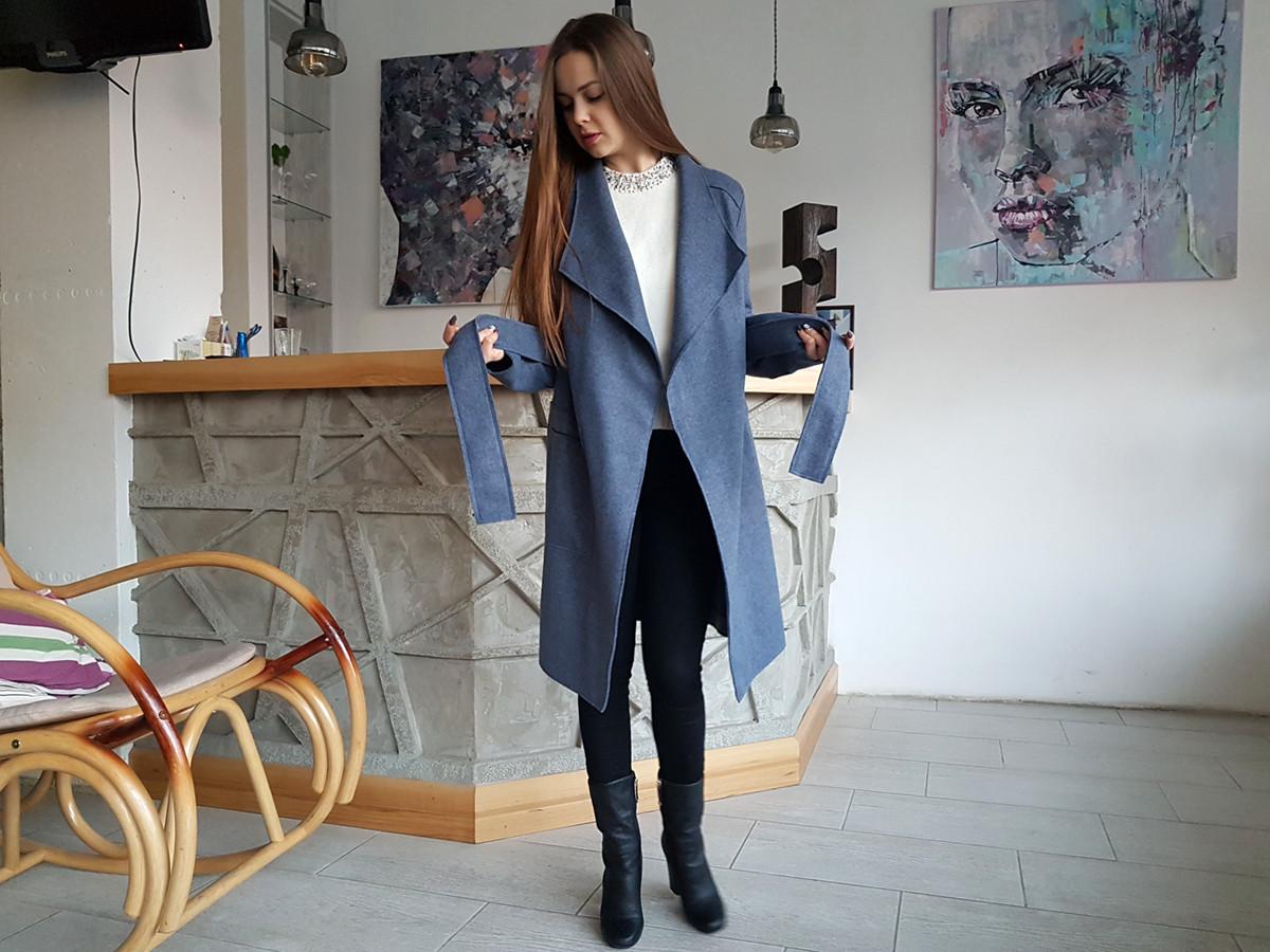 Женское пальто - кардиган под пояс без подкладки  продажа f3527bf142add
