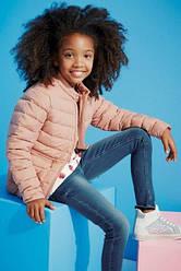 Курточка дутая для девочки короткая розовая Next