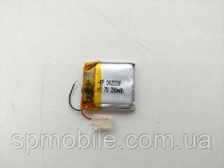 Акумулятор 042020 для China (Li-ion 3.7 В 200мА·год), (20*20*4 мм)