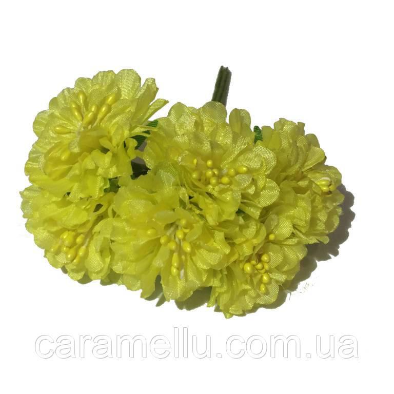 Хризантема 6 штук. Цвет желтый