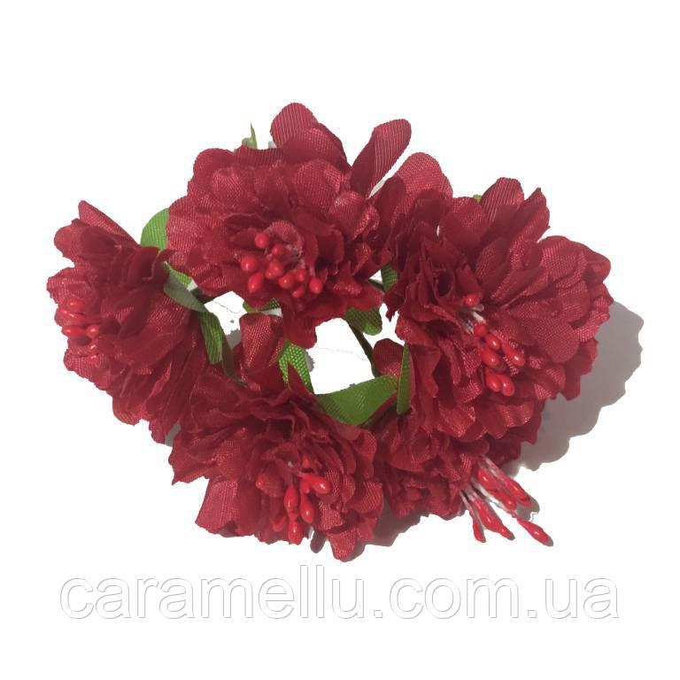 Хризантема 6 штук. Цвет красный