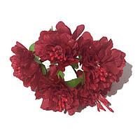 Хризантема 6 штук. Цвет красный, фото 1