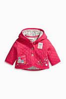 Курточка для малышки розовая с вышивкой Next