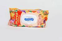 Детские влажные салфетки Superfresh 120 шт. c экстрактом календулы (с клапаном)
