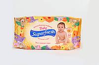 Детские влажные салфетки Superfresh 60 шт. c экстрактом календулы