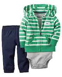 Костюм для мальчика зелено-синий Carters