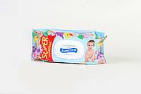 Детские влажные салфетки Superfresh 120 шт. c экстрактом ромашки (с клапаном)