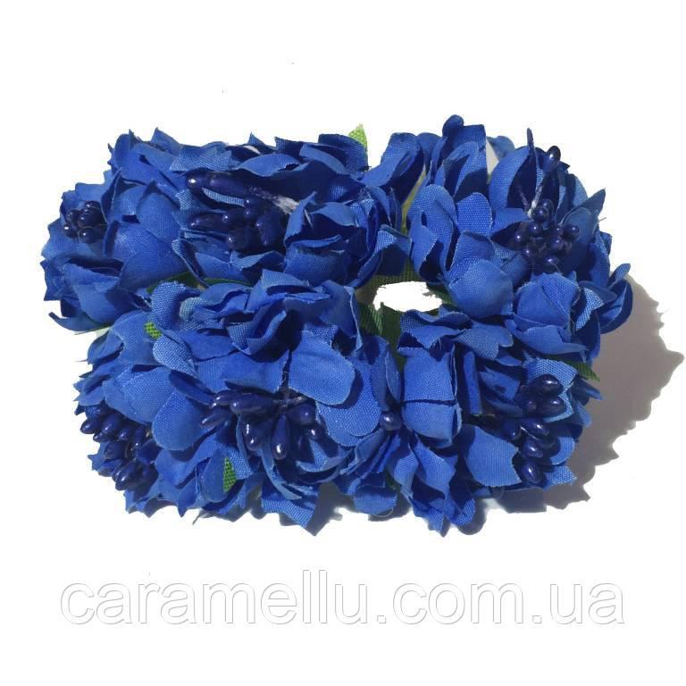 Хризантема пушистая 6 штук. Цвет синий