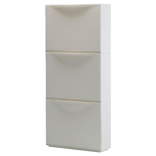 ТРОНЭС Галошница/комод для обуви на шуфл., белый, 51x39 см, 10031987 IKEA, ИКЕА, TRONES