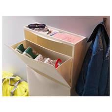 ТРОНЭС Галошница/комод для обуви на шуфл., белый, 51x39 см, 10031987 IKEA, ИКЕА, TRONES, фото 2