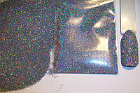 Голографический блеск для декора ногтей - цвет серебро.